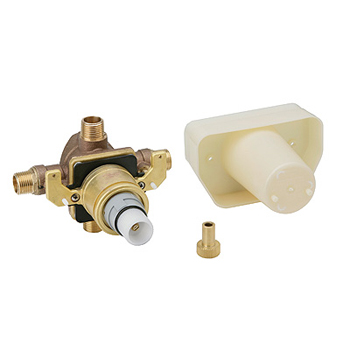 grohe 1 2 concealed thermostatic rough in valve with stops
