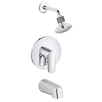 Grohe 35.018.002 Europlus Shower/Tub Combination Pressure Balance Valve Trim - Starlight Chrome