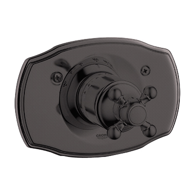 Grohe 19.615.ZB0 Geneva Thermostat Shower Valve Trim with Cross Handle - Oil Rubbed Bronze