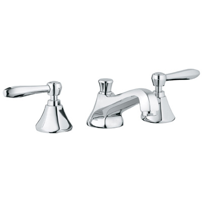 Grohe 20.133.000 Somerset Wideset Lavatory Faucet - Chrome (Pictured w/Handles  Not Included)