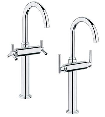 Grohe 21.046.000 Atrio Deck Mount Vessel Lavatory Faucet - Chrome ...