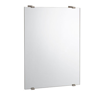 Gatco 1564 Bleu Collection Rectangle Minimalist Mirror - Satin Nickel