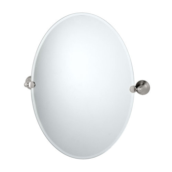 Gatco GC4369 Charlotte Series Oval Mirror - Satin Nickel