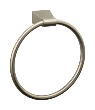 Gatco GC4732 Bleu Series Wall Mounted Towel Ring - Satin Nickel