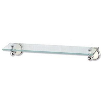 Gatco 5287 Franciscan Glass Shelf Chrome