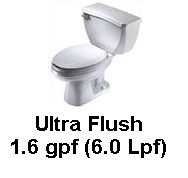 Gerber 21-312 Ultra Flush Elongated Two Piece Pressure Assist Toilet - White