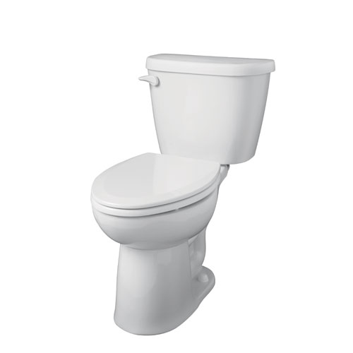 Gerber 21-917 Maxwell 1.28 gpf 10 in Rough-In Two-Piece Elongated Ergoheight Toilet - White