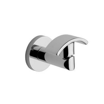 Ginger 0210/SN Sine Double Robe Hook - Satin Nickel (Pictured in Chrome)