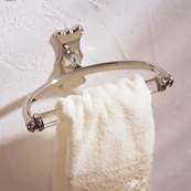 Ginger 0705CL/PC Circa Towel Ring with Clear Glass - Chrome