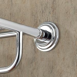 Ginger 1139B-26 Chelsea Shower Rod Brackets Pair - Polished Chrome