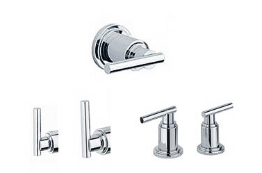 Grohe 18.027.BE0 Atrio Lever Handles - Sterling (Pictured in Chrome)