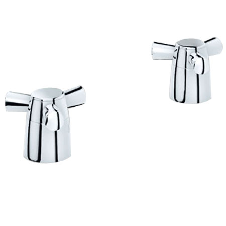 Grohe 18.084.000 Arden Spoke Handles, Pair - Chrome