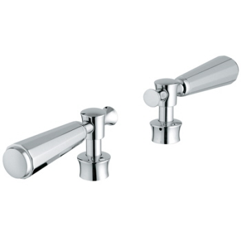 Grohe 18.087.000 Kensington Lever Handles, Pair - Chrome