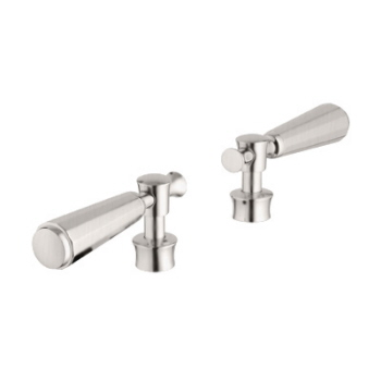 Grohe 18.087.EN0 Kensington Lever Handles, Pair - Infinity Brushed Nickel
