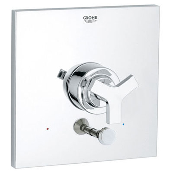 Grohe 19.490.000 Allure Pressure Balance Diverter Valve Trim with Cross Handle - Starlight Chrome