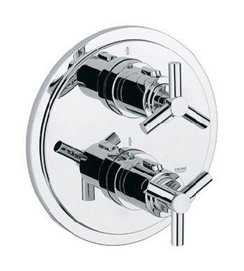 Grohe 19.167.000 Atrio Integrated Shower Thermostat Trim - Chrome