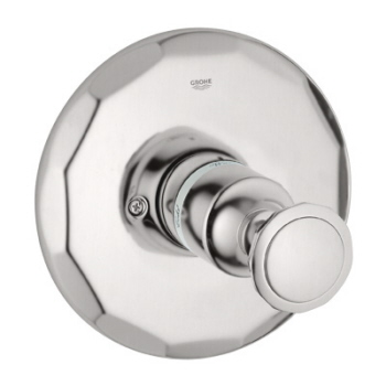 Grohe 19.268.000 Kensington Pressure Balance Shower Valve Trim w/Round Metal Handle - Chrome (Pictured in Brushed Nickel)