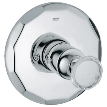Grohe 19.268.VP0 Kensington Pressure Balance Shower Valve Trim w/Swarovski Crystal Knob Handle - Chrome