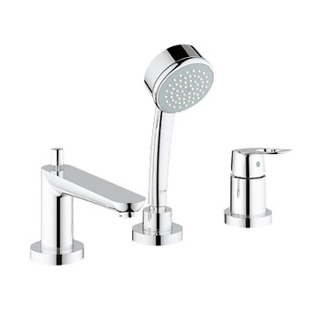 Grohe 19.592.000 BauLoop Roman Tub Filler with Personal Hand Shower - Chrome