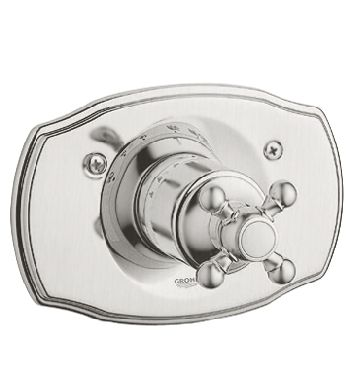 Grohe 19.615.EN0 Geneva Thermostat Shower Valve Trim with Cross Handle - Infinity Brushed Nickel