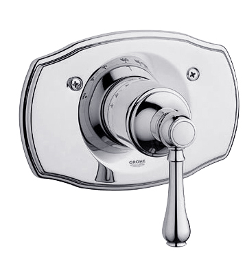 Grohe 19.616.000 Geneva Thermostat Trim with Lever Handle - Chrome