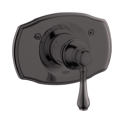 Grohe 19.616.ZB0 Geneva Thermostat Trim with Lever Handle - Oil Rubbed Bronze
