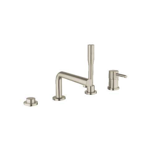 Grohe 19576EN1 Concetto 4 Hole Single Lever Roman Tub Combination - Brushed Nickel