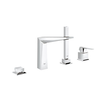 Grohe 19787 000 Allure Brilliant 4 Hole Single Lever Bath Combination - Chrome