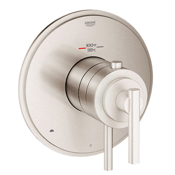 Grohe 19849EN0 GrohFlex Timeless Dual Function Thermostatic Trim with Control Module - Brushed Nickel