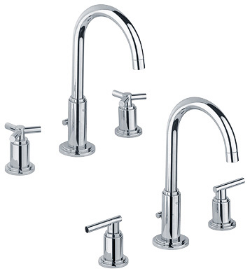 Grohe 20.069.000 Atrio High Spout Wideset Lavatory Faucet - Chrome (Pictured w/Handles  Not Included)