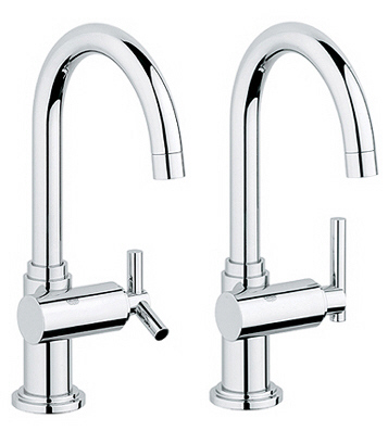 Grohe 20.074.000 Atrio Basin/Pillar Tap - Chrome (Pictured w/Handle  Not Included)