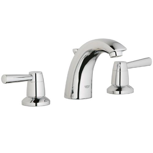 Grohe 20.121.ENE Arden WaterCare Widespread Lavatory Faucet - Brushed Nickel (Pictured in Chrome)