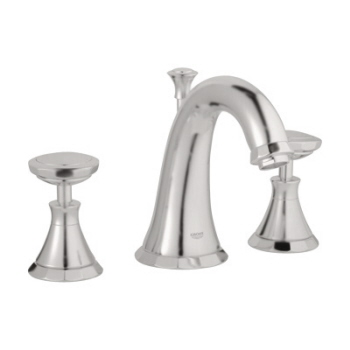 Grohe 20.124.EN0 Kensington Widespread Lavatory Faucet - Infinity Brushed Nickel (Pictured w/Handles  Not Included)