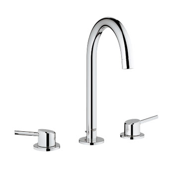 Grohe 20.217.EN1 Concetto WaterCare Two Handle Lavatory Wideset - Brushed Nickel (Pictured in Chrome)