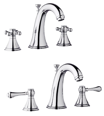 Grohe 20.801.000 Geneva Lavatory Widespread Faucet - Chrome (Pictured w/Handles -- Not Included)