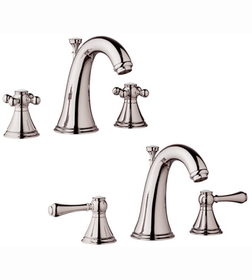 Grohe 20.801.BE0 Geneva Lavatory Widespread Faucet - Infinity Sterling (Pictured w/Handles  Not Included)