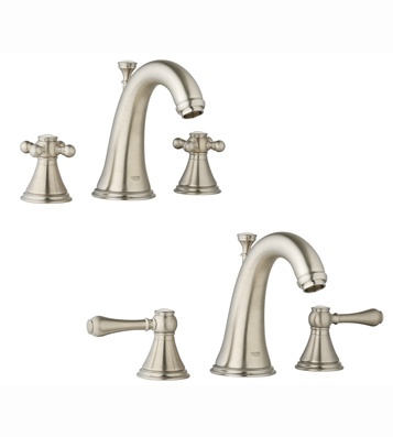 Grohe 20.801.ENE Geneva WaterCare Lavatory Widespread Faucet - Infinity Brushed Nickel (Pictured w/Handles  Not Included)