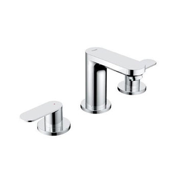 Grohe 20 199 000 Eurosmart Cosmo Widespread Lavatory Faucet - Starlight Chrome