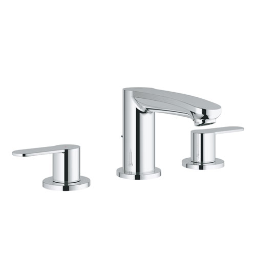 Grohe 2020900A Eurostyle Cosmopolitan 8 in Widespread Two-Handle Bathroom Faucet S-Size - Starlight Chrome