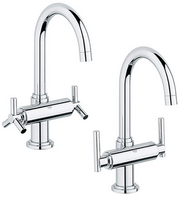 Grohe 21.027.EN0 Atrio High Spout Centerset Lavatory Faucet - Infinity Brushed Nickel (Pictured in Chrome w/Handles  Not Included)