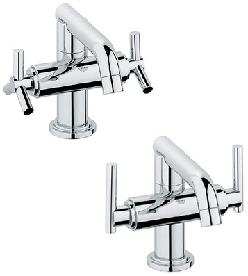 Grohe 21.031.EN0 Atrio Low Spout Centerset Lavatory Faucet - Infinity Brushed Nickel (Pictured in Chrome w/Handles  Not Included)