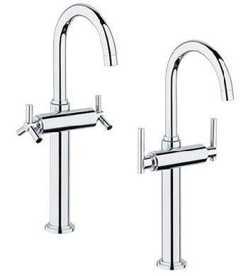 Grohe 21.046.000 Atrio Deck Mount Vessel Lavatory Faucet - Chrome (Pictured w/Handles  Not Included)