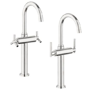 Grohe 21.046.EN0 Atrio Deck Mount Vessel Lavatory Faucet - Infinity Brushed Nickel (Pictured w/Handles  Not Included)
