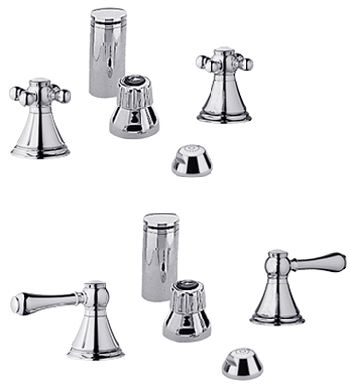 Grohe 24.019.000 Geneva Wideset Bidet Faucet - Chrome (Pictured w/Handles  Not Included)