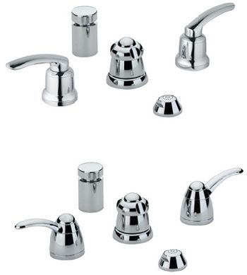 Grohe 24.667.000 Talia Wideset Bidet Faucet - Chrome (Pictured w/Handles -- Not Included)