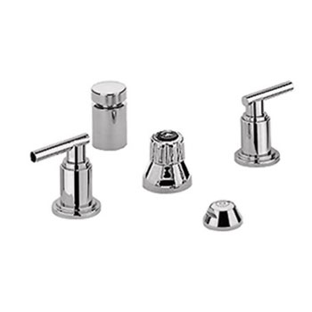 Grohe 24016EN0 Atrio Wideset Bidet Faucet - Infinity Brushed Nickel (Pictured w/Handles  Not Included)