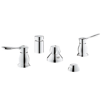 Grohe 24033 000 Parkfield Two Handle Wideset Bidet Faucet - Chrome