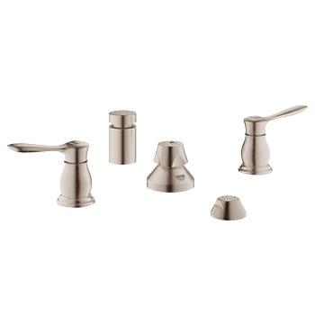 Grohe 24033 EN0 Parkfield Two Handle Wideset Bidet Faucet - Brushed Nickel