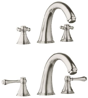Grohe 25.054.EN0 Geneva Roman Tub Filler - Infinity Brushed Nickel (Pictured w/Handles  Not Included)