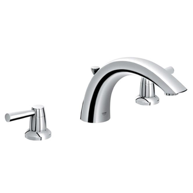 Grohe 25.071.EN0 Arden 3 Hole Roman Tub Filler - Brushed Nickel (Pictured in Chrome)